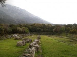 ruines où se trouvait la Victoire